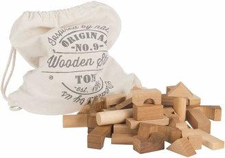 story. Wooden Natural Wooden Blocks, 100 Pieces
