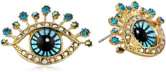 "Betsey Johnson Critter Statement"" Eye Stud Earrings"