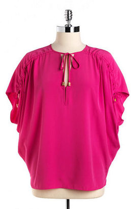 Vince Camuto Drawstring V-neck Top