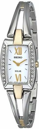 Seiko Women's SUP084 Two Tone Stainless Steel Analog Watch with White Dial Watch $275 thestylecure.com