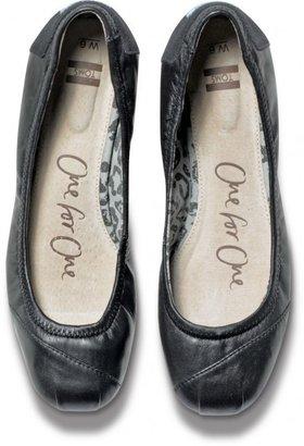 Toms Black Camila Ballet Flats