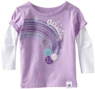 adidas Baby-Girls Infant Layer Pleat Sleeve Tee