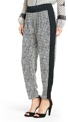Boy Meets Girl Coraline Printed Relaxed Pant In Tweed Dash Black
