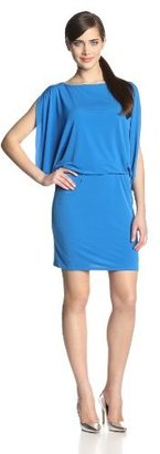 Jessica Simpson Women's Open Arm Solid Blouson Dress