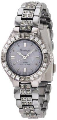 Swarovski Armitron Women's 75/3689GMDS Crystal Accented Ion-Plated Dark Silver-Tone Bracelet Watch