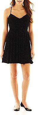 JCPenney Velvet Skater Dress