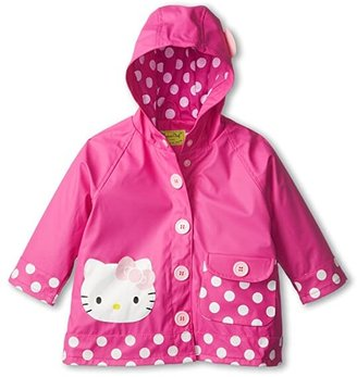 Western Chief Hello Kitty Cutie Dot Raincoat (Toddler/Little Kids/Big Kids) (Pink) Girl's Coat