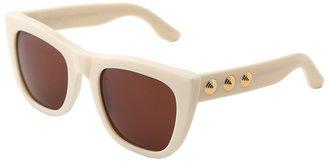 Super Gals Brigitte (Creme/Gold Spiral Stud) - Eyewear