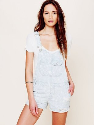 Free People Cross Over Distressed Overall