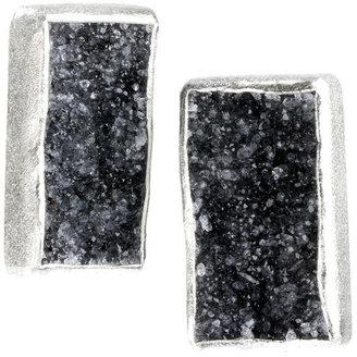 Nina Nguyen Jewelry - Nirvana Black Druzy Silver Earrings