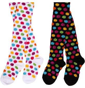 Jefferies Socks Fuzzy Dot Rainbow (Toddler/Youth)