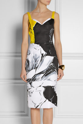 Prabal Gurung Floral-print satin dress