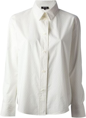 A.P.C. micro dot shirt