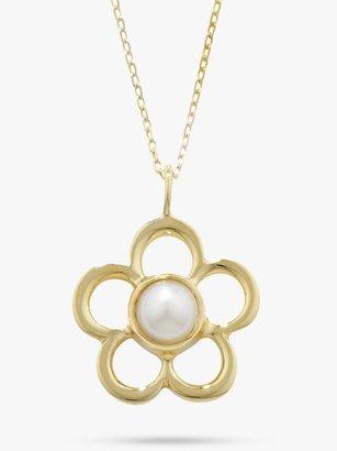 E.W Adams 9ct Gold Birthstone Blossom Pendant Necklace