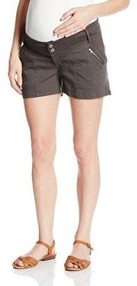 Ripe Maternity Women's Maternity Hiker Zip Shorts