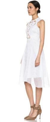 Carven Organza Dress in White