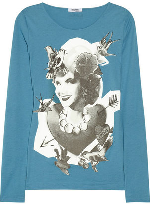 Moschino Cheap & Chic Moschino Cheap and Chic Printed cotton-jersey top