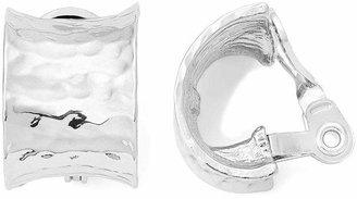 MONET JEWELRY Monet Silver-Tone J-Hoop Clip-On Earrings
