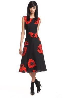 Tracy Reese Placed Floral Print Dress