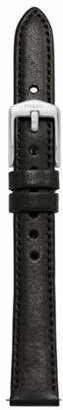 Fossil 14Mm Black Leather Watch Strap