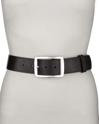 Neiman Marcus Contour Jean Belt, Black