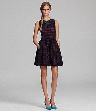 French Connection Sleeveless Eyelet Dress