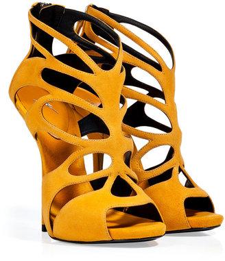 Giuseppe Zanotti Sunflower Suede Wafer Platform Sandals