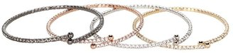 The Cool People Dee Berkley for Crystal Bangle Set (Gold/Silver/Rose/Black Rhodium) - Jewelry