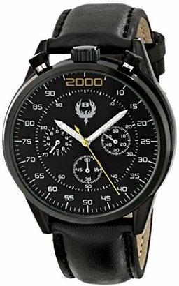 Brillier Men's 13.02-01#BUZZ Analog Display Quartz Black Watch