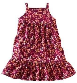 Tea Collection Girls Plumeria Ruffle Hem Dress