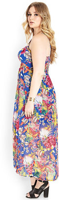 Forever 21 FOREVER 21+ Tropical Goddess Maxi Dress