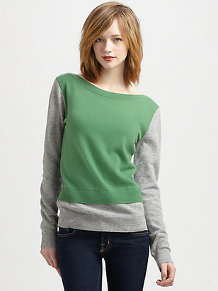 Clu Colorblock Wool and Cashmere Pullover Sweater