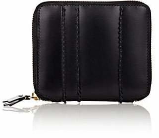 Comme des Garcons Men's Zip-Around Wallet - Black
