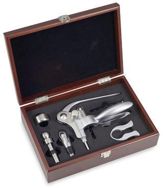 Bed Bath & Beyond Ampersand 6-Piece Corkscrew Set in Cherry Wood Box