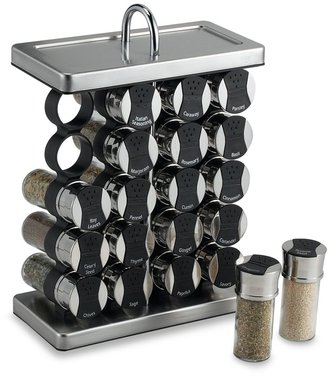 Olde Thompson 20-Jar Spice Organizer in Stainless Steel