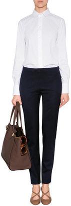 Jil Sander Navy Wool Pants in Dark Blue