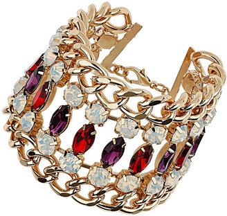 Topshop Premium Rhinestone and Chain Bracelet