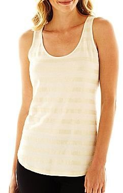 JCPenney a.n.a® Sequin Tank Top