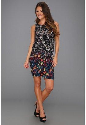 BCBGMAXAZRIA Janis Knit City Dress (Bordeaux Combo) - Apparel