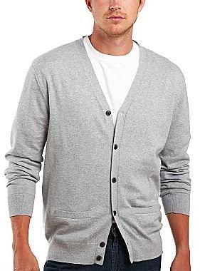 JCPenney jcpTM Cotton/Cashmere Cardigan Sweater