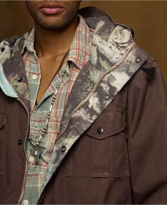 Denim & Supply Ralph Lauren Jacket, Zip Front Camo Raincoat