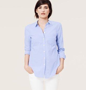 LOFT Blue Oxford Softened Shirt