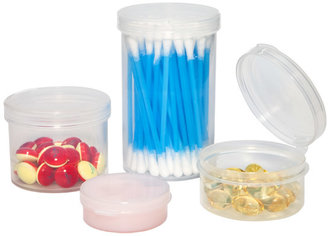 Container Store 1/4 oz. Hinged-Lid Jar Translucent