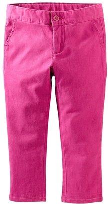 Tea Collection Skinny Twill Pants (Little Girls & Big Girls)