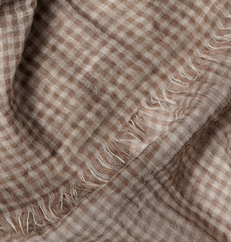 Dolce & Gabbana Check Cotton Scarf