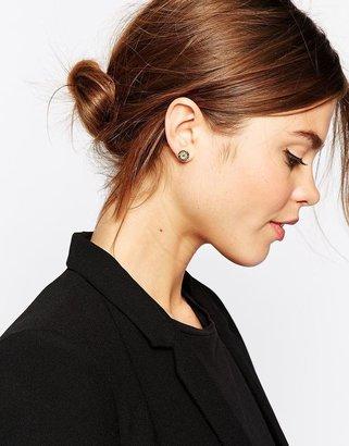Ted Baker Silver Glitter Tempany Stud Earring
