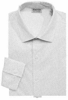 Kenneth Cole Reaction Slim Fit Printed Dress Shirt