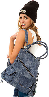 Vans The Section Convertible Backpack Bag in Denim