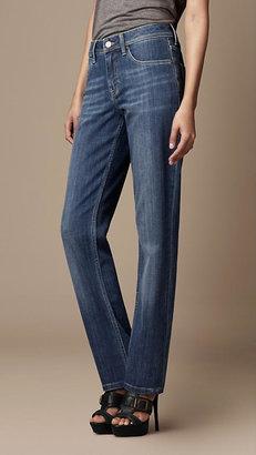 Burberry Stonewash Straight Leg Jeans