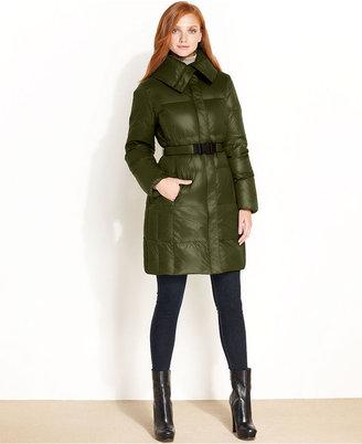 Calvin Klein Coat, Packable Belted Puffer Parka